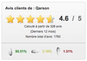 Avis clients de Qarson