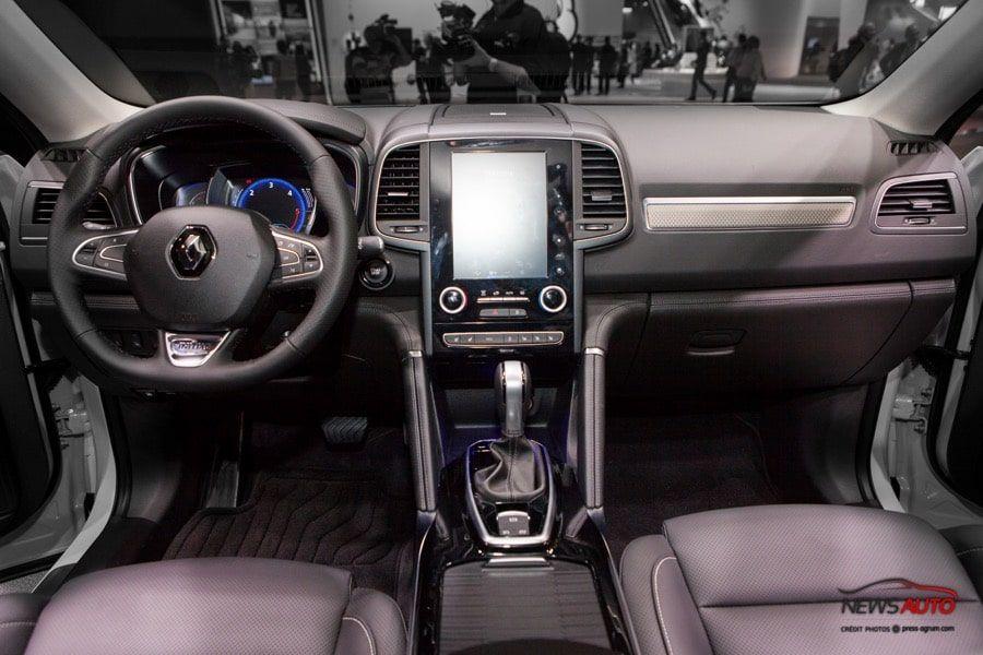 console centrale Renault Koleos 2016