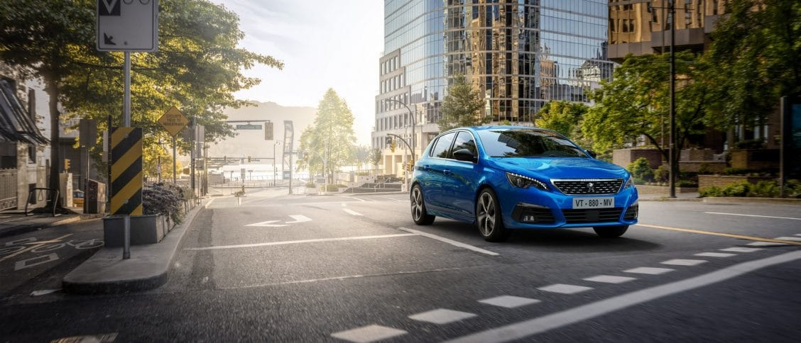Peugeot 308 bleu vertigo