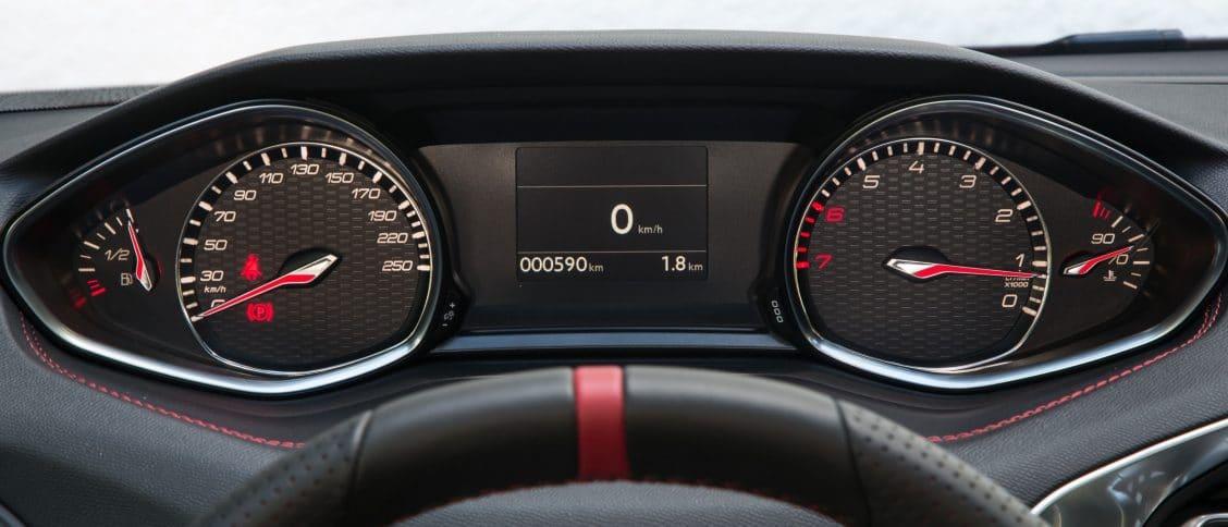 Peugeot 308 II compteur analogique compteur à aiguilles