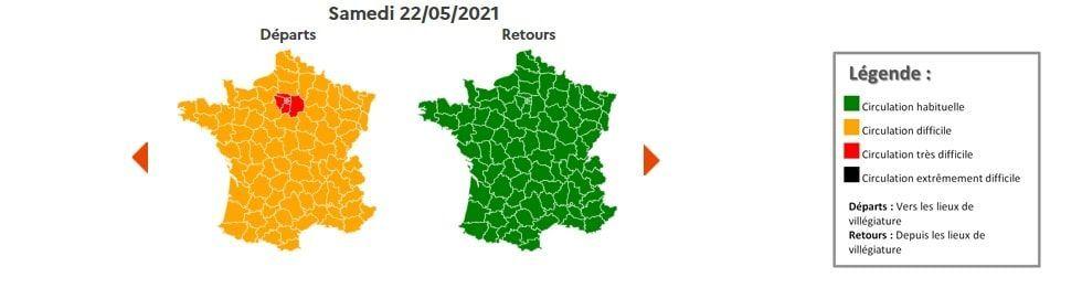 Circulation Bison Futé samedi 22 mai