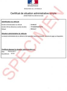 certificat situation administrative simple : declarationdecession.com