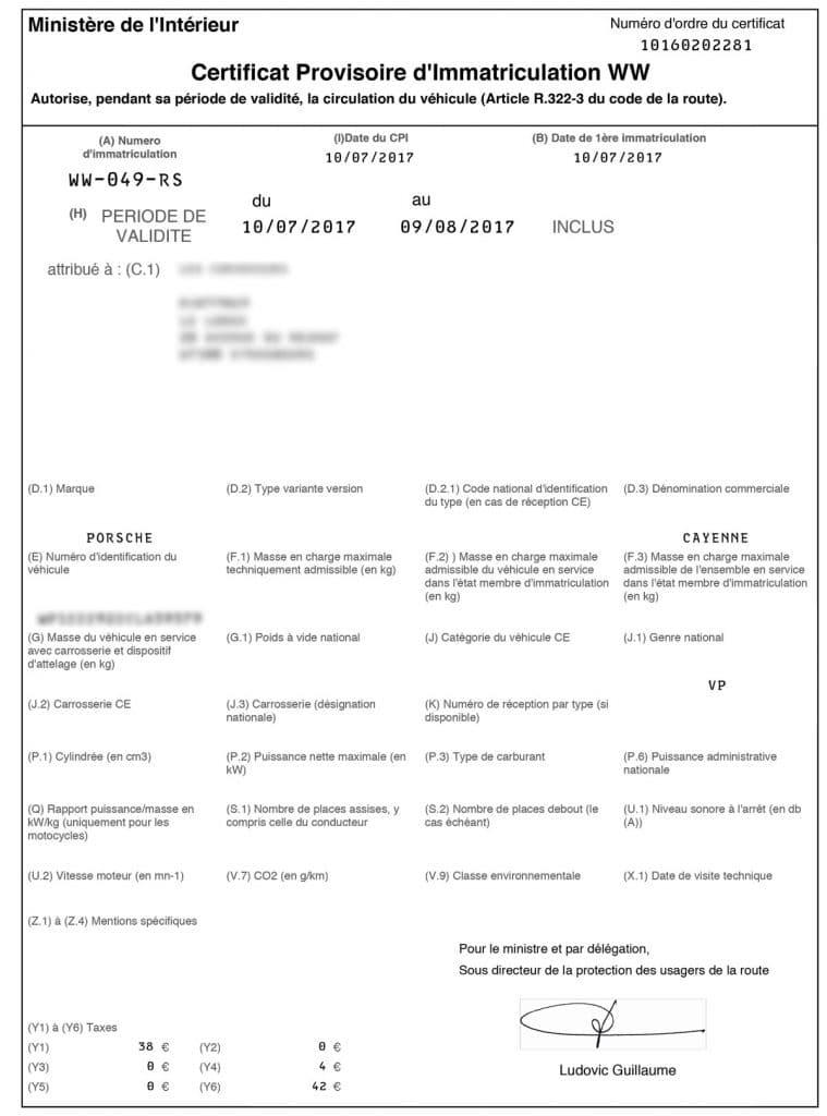 Tout Savoir Sur Le Certificat Provisoire D Immatriculation Ww