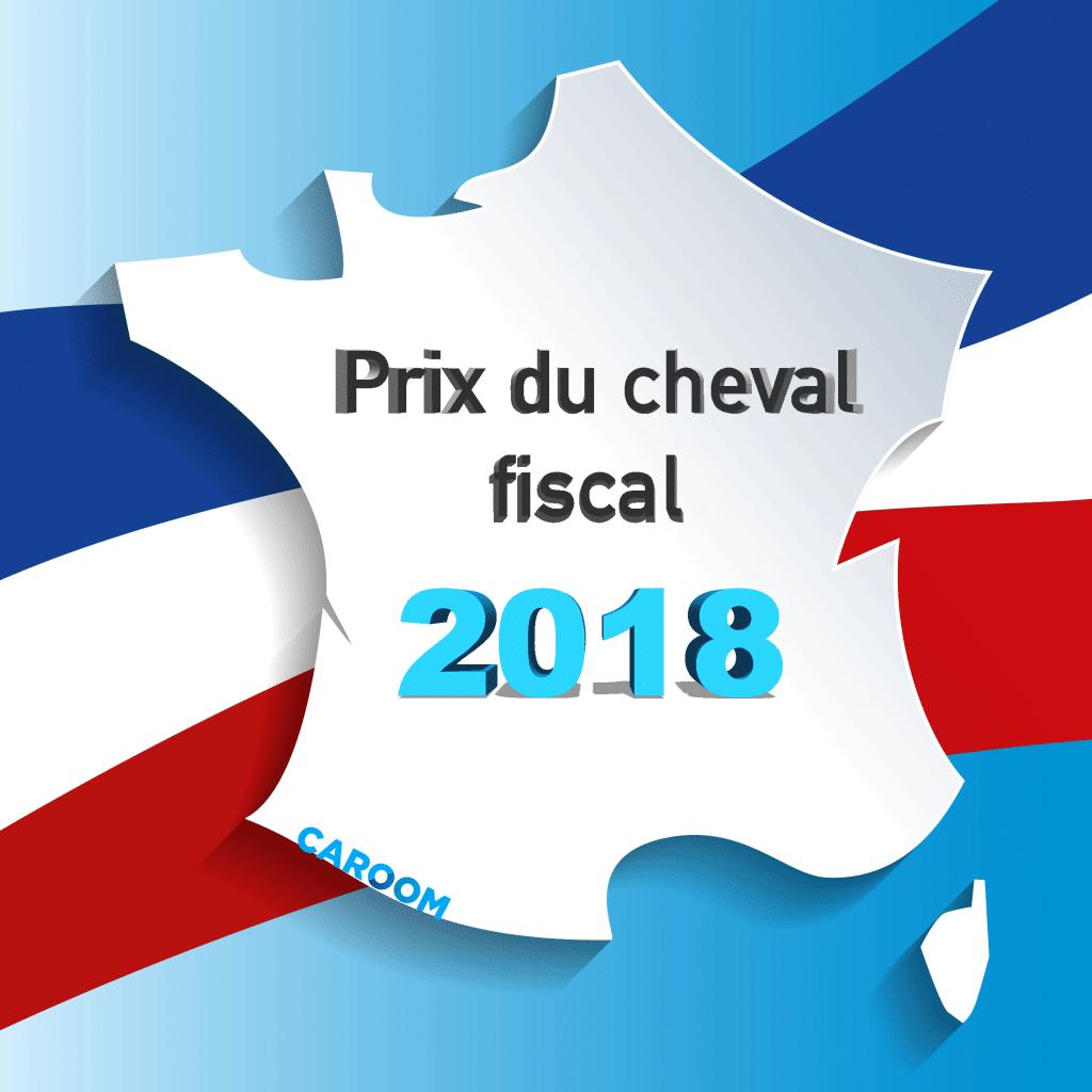 Prix du cheval fiscal 2018 par région