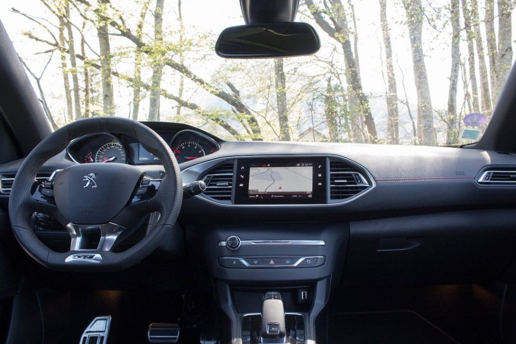 Intérieur de la Peugeot 308
