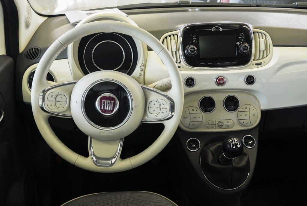 Interieur de la Fiat 500