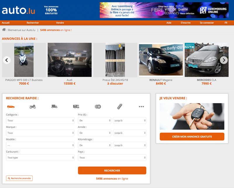 Auto.lu, site d'annonces autos Luxembourgeois proposant des voitures neuves, d'occasion et de collection.