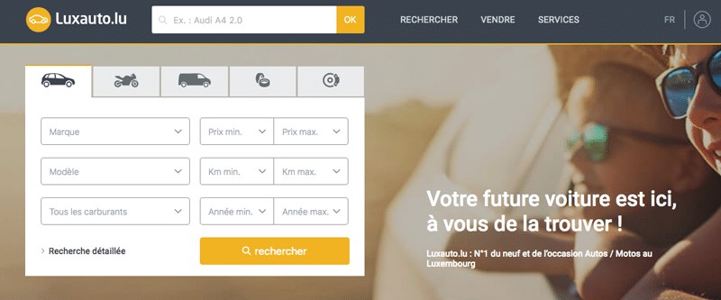 Luxauto.lu, site de petites annonces automobiles au Luxembourg.